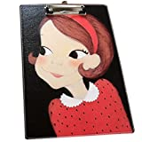 Faux Leather Fashion Writing Board Black Girl Recipes/Paper Files Folder OFFICE