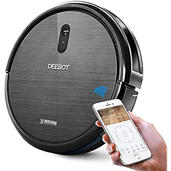 ECOVACS DEEBOT N79 Robotic Vacuum Cleaner with Strong Suction, for Low-pile Carpet, Hard floor, Wi-Fi Connected (Renewed) ...