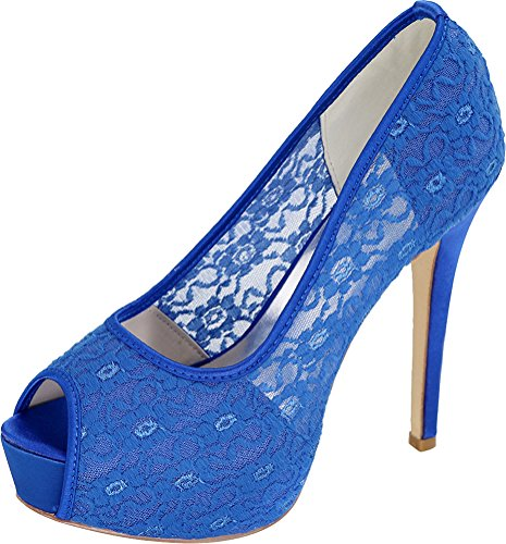 Bridesmaid 3128 Wedding Dress Party Comfort On Mesh Sandals Toe Work Slip Blue 25e Peep Salabobo Platform Ladies Bride Prom zpS4YYwqd