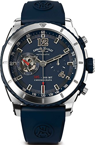 Armand Nicolet Gents-Wristwatch S05-3 Chronograph Analog Automatic A714AGU-BU-GG4710U