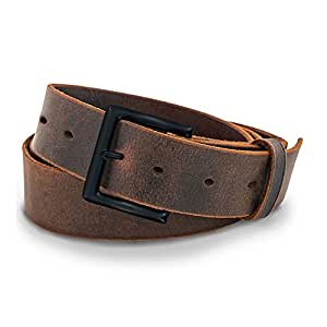 Hanks A1100 Casual Jean Belt - Crazy Horse Leather-Black Buckle - 32
