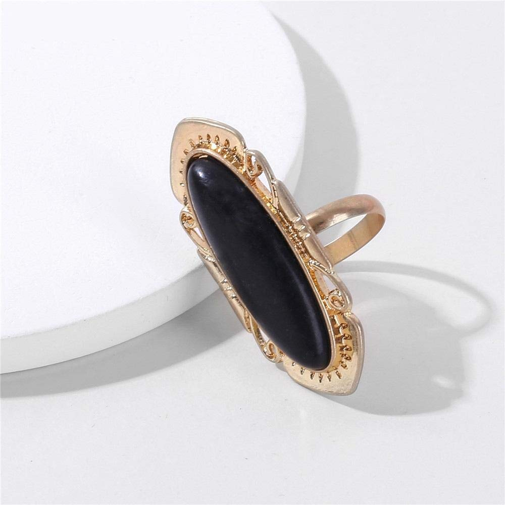DTZH Rings Jewellery Ring Lady Ring Oval Open Ring Gift to Dear