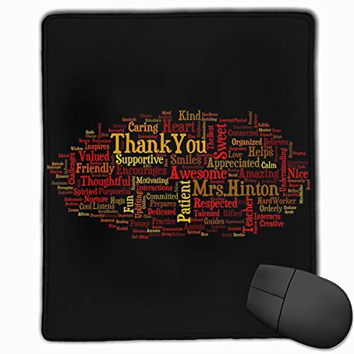 (Office Mouse Pad Abstract Adjective Word Graphic Rectangle Rubber Mousepad 8.66 X 7.09 Inch Gaming Mouse Pad with Black Lock)