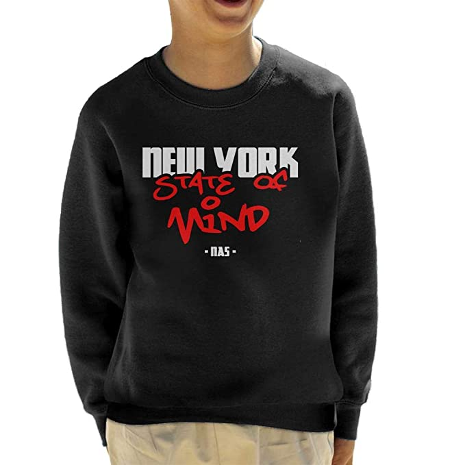 NAS New York State of Mind Kids Sweatshirt: Amazon.es: Ropa y accesorios