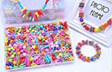 Jewelry Beads Toys, Magnolora Handmade Jewelry Making Kits for Children Bracelets, Necklace, Early Childhood Education Toys & Perfect Christmas Gift-550 Pcs