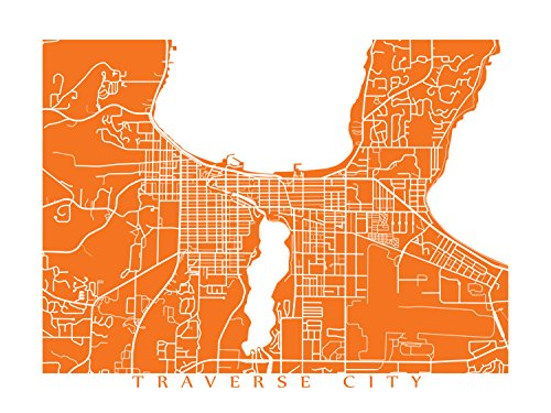 Traverse City Map Print