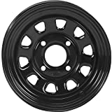 ITP Delta Steel Wheel - 12x7 - 5+2 Offset - 4/110 - Black , Bolt Pattern: 4/110, Rim Offset: 5+2, Wheel Rim Size: 12x7, Color: Black, Position: Front/Rear D12F511