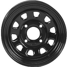 ITP Delta Steel Wheel - 12x7 - 2+5 Offset - 4/110 - Black , Bolt Pattern: 4/110, Rim Offset: 2+5, Wheel Rim Size: 12x7, Color: Black, Position: Front/Rear D12R511