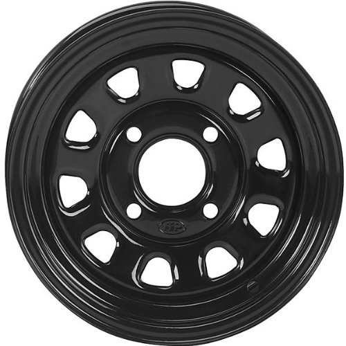 Honda Wheel Rim Front (ITP Delta Steel Wheel - 12x7 - 5+2 Offset - 4/110 - Black , Bolt Pattern: 4/110, Rim Offset: 5+2, Wheel Rim Size: 12x7, Color: Black, Position: Front/Rear D12F511)