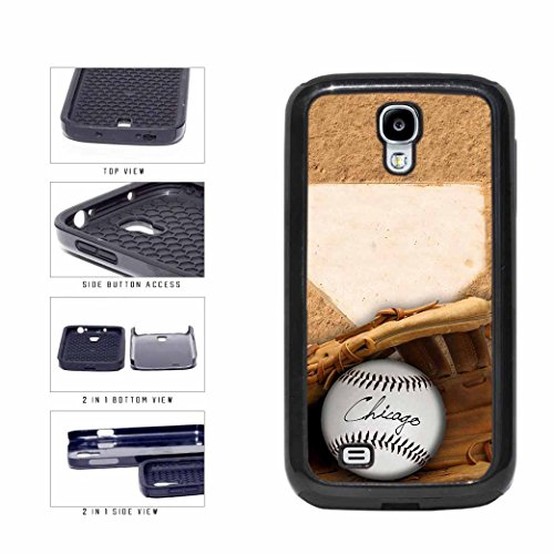 Chicago Black Glove and Baseball 2-Piece Dual Layer Phone Case Back Cover Samsung Galaxy S4 I9500