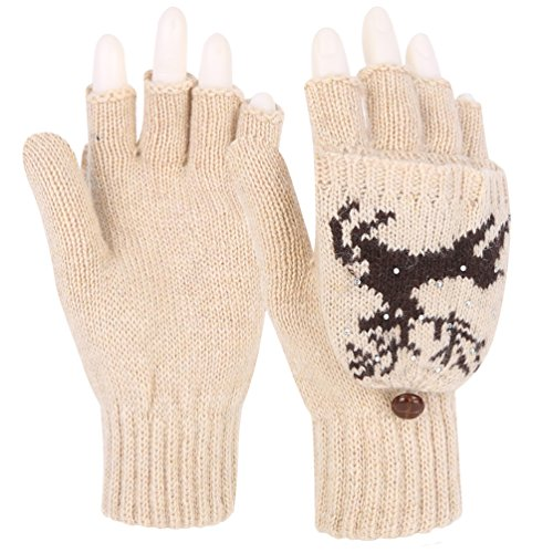 Novawo Knitted Convertible Snowflake Pattern
