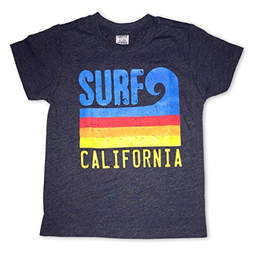 Sol Baby Surf California Stripe Wave Heathered Navy Tee-3T-Blue by Sol Baby