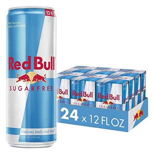 (Red Bull Energy Drink, Sugar Free, 24 Pack of 12 Fl Oz, Sugarfree (6 Packs of 4))