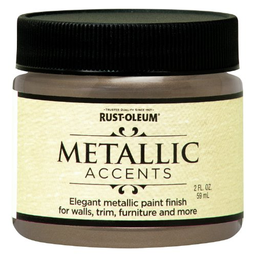 (Rust-Oleum 255300 Metallic Accents Paint, 2 oz Trial Size, Champagne)