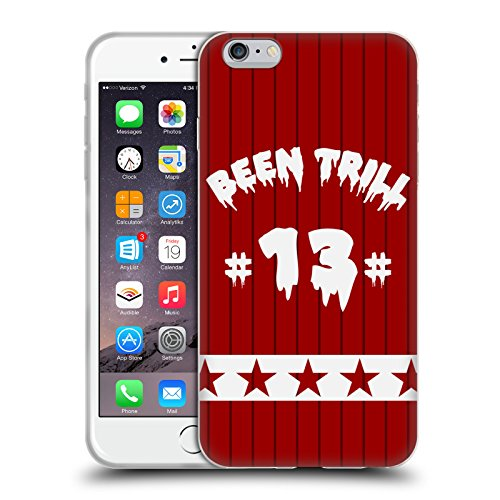 Official Been Trill Red Star Jersey Soft Gel Case for Apple iPhone 6 Plus / 6s Plus