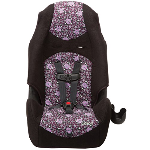 Cosco - Highback 2-in-1 Booster Car Seat - 5-Point Harness or Belt-positioning - Machine Washable Fabric - 13 Colors, Sugar Plum from Cosco