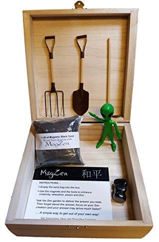 Alien MagZen - Unique Magnetic Alien Zen Garden Zen Box, Tabletop/Desktop Zen Garden Kit for Relaxation, Stress Relief, Creativity and Magnetic Science (Alien Version) (Alien) by MagZen (Image #2)