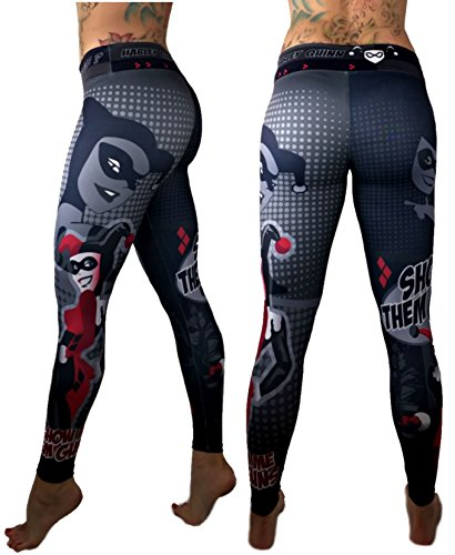 [Harley Quinn Superhero Leggings Yoga Pants Compression Tights] (Sit And Be Fit Costume)