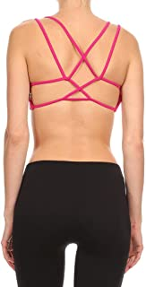 product image for Dippin' Daisy's Solid Raspberry Women's Waterfall Strap Sports Bra (Includes Bra Cups)