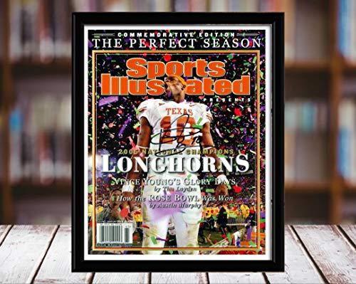 - Vince Young Sports Illustrated Autograph Replica Print - Championship Commemorative - Texas Longhorns - 2006-8x10 Desktop Framed Print