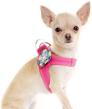 Arnés de tela sintética para perro con diseño de flor. Para perros ...
