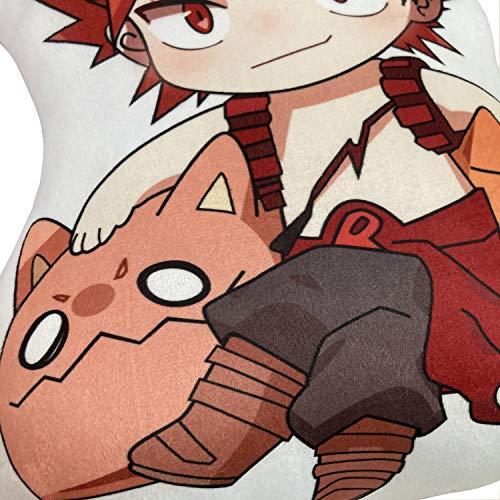 Anime Plushies My Hero Academia Kirishima Eijiro Plush Pillow MHA Eijirou Plushie Pillows Doll Toy Cushion Home Decor (Kirishima Eijiro)