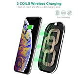 CHOETECH Wireless Charger, 3 Coils Qi Certified 10W Max Fast Wireless Charging Pad, Compatible iPhone 11/11 Pro/11 Pro Max/SE/Xs Max/XR/X/XS/8/8 Plus, Galaxy Note 10/S20/S20+ /S10/S10E, AirPods Pro