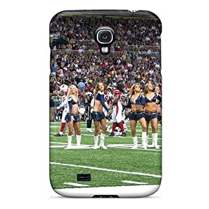 Galaxy S4 Case Cover - Slim Fit Tpu Protector Shock Absorbent Case (st. Louis Rams Cheerleaderss)