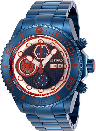 (Invicta Reserve Spiderman 27156 Grand Diver Swiss Automatic SW500 Chronograph Watch)
