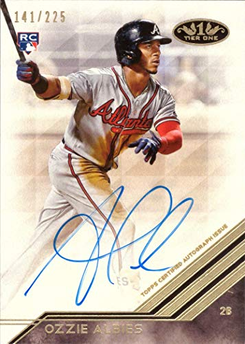 2018 Topps Tier One #BA-OA Ozzie Albies Certified Autograph Baseball Rookie Card - Only 225 made!