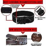 DEFY Leather Power Lifting Weight Belt Men
