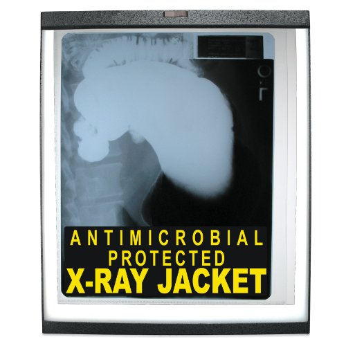 - C-Line X-Ray Jackets with Antimicrobial Protection, Open Long Side, Clear, 12.25 x 10.5 Inches, 25 per Box (56237)