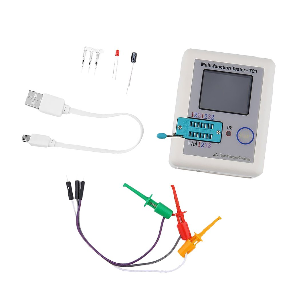 Baosity LCR ESR Tester Transistor Inductance Capacitance Resistance Meter LCR TC1 by Baosity (Image #3)