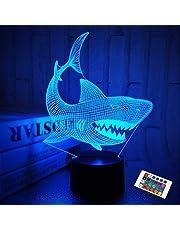 Nachtlampje voor kinderen Oceaan Dolfijn 3D Nachtlampje Porpoise Nachtlampje 7 Kleurveranderende Xmas Halloween Verjaardagscadeau voor Kind Baby Jongen
