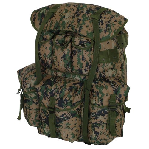 Digital Woodland Camouflage Large ALICE Field Pack Bag Backpack – 22 x 20 x 19, Outdoor Stuffs