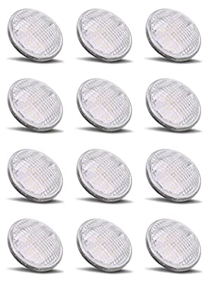 PAR36 LED 6W Light Bulb Outdoor Garden Landscape Lighting Low Voltage 12V AC DC AR111 G53 Underwater Industrial Waterproof IP65 Flood Lamp 2700K Warm White 12 Volt Swimming Pool Lights Value 12 Pack