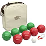 GoSports Premium Bocce Set with 8 Balls, Pallino, Case and Measuring Rope