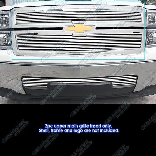APS 2014-2015 Chevy Silverado 1500 Reg Model Only Phat Billet Grille Inserts #S18-K05956C