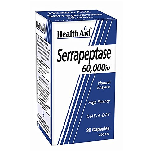 Health Aid Serrapeptase 60000iu <b>New</b> 30 Capsules