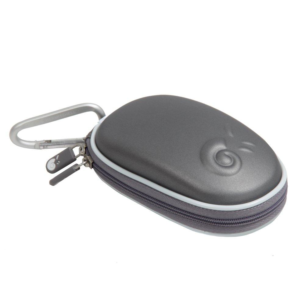 Hermitshell dur de stockage EVA couverture Housse é tui de protection et un mousqueton pour Apple Magic Mouse souris (I et II 2è me Gé n) Gris IT-10153_4