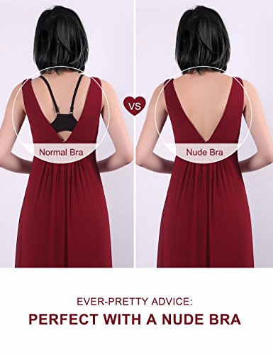 Ever-Pretty Womens Elegant Ruffles Wedding Guest Dresses 4US Red by Ever-Pretty (Image #5)