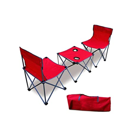 Mesas plegables y sillas, hookee ajustable ligero utilidad mesa y silla para camping picnic Senderismo