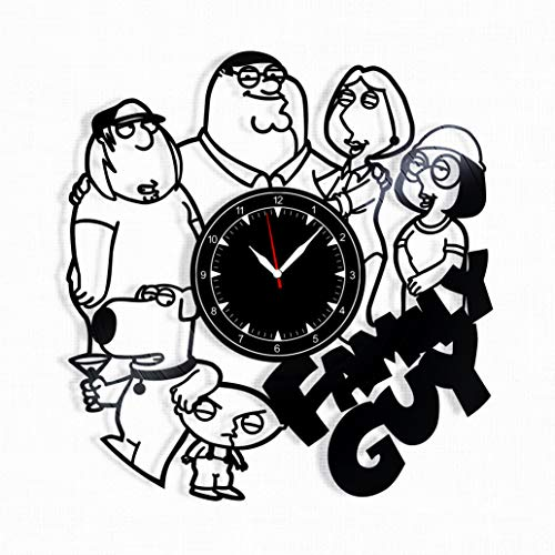 Family Guy Vinyl Record Clock - Family Guy Wall Clock - Best Gift for Fans Family Guy - Original Wall Home -
