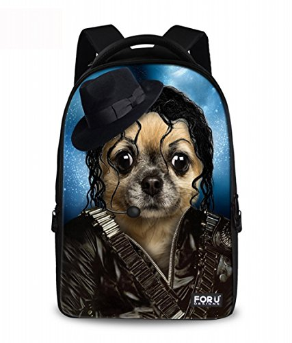 LBstyle 18 Inch Dog Pet Laptop Backpack Girls Canvas School Backpage Bags Dog 32