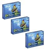 TDK 60min Mini DV 3-Pack Cassette Tape