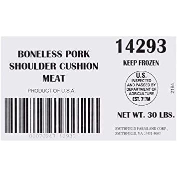 Amazon Com Farmland Poly Lined Boneless Pork Cushion Meat 30 Pound