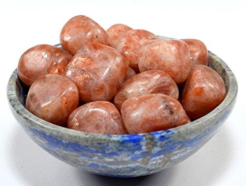 5pcs Natural Sparkling Sunstone Pebbles Polished Feldspar Gemstone Crystal Mineral Cabochon Cab Specimens - India Cabochon Crystal Cab