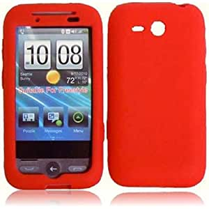 Compatible with HTC Freestlye F8181 Silicone Skin Cover - Red
