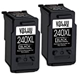 Voshy Remanufactured Canon PG-240 PG-240XL Ink Cartridges, High Yield Replacement for Canon Pixma MG3620 TS5120 MX532 MG3520 MX472 MX432 MG4120 MX392 MG2120 MG3120 MG2220 MX452 MG3220 MG3122-2 Black