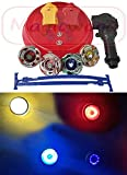 Magicwand 4 Big Metal Beyblades With Led Lights 2 Launchers 1 Stadium 2 Spring Action Launchers Spinning Top - Multi Color